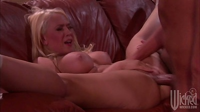 Big tits Kagney Linn Karter gets filled with cock even from behind