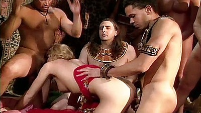 Awesome gang bang orgy group sex with Monique nailed hard