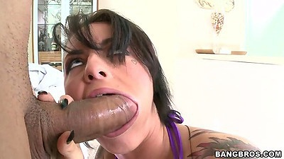 Big dick blowjob with brunette Christy Mack with pov action