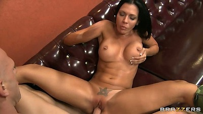 Rachel Starr spreading those legs for cock sitting on the couch