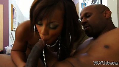 Ebony Leilane Leeane blowjob sucking big dick with ass spreading doggy fuck