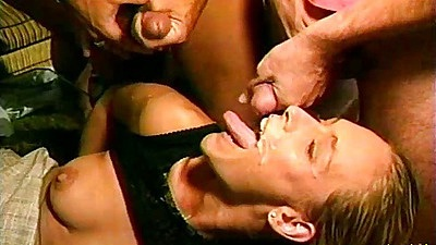 Debi Diamond facial bukkake cumshot at classic party half dressed