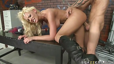 Sexy blonde whore pounded by the master himself