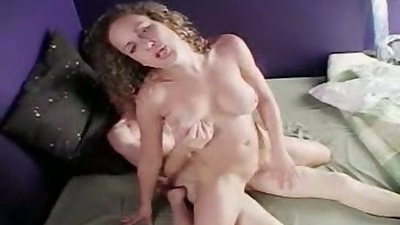 Reverse cowgirl natural tits sex with silk sin babe