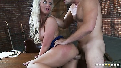 Doggy style milf sex with Phoenix Marie and thrown on table views:7310