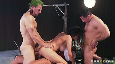 Shay Sights getting group fucked with double penetration for milf