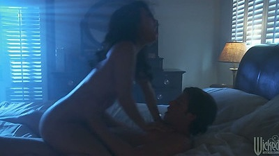 Dark room couple sex with asian Asa Akira and making out views:4408
