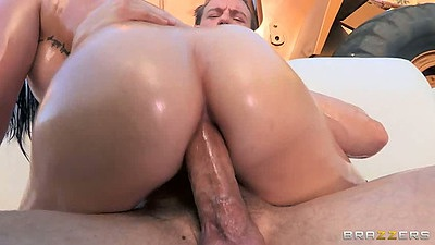 Anal sex cowgirl with oil and Mackenzee Pierce outdoors and ass to mouth views:10048