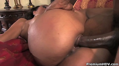 Perfect firm ass ebony chick Lacey DuValle fucked hard