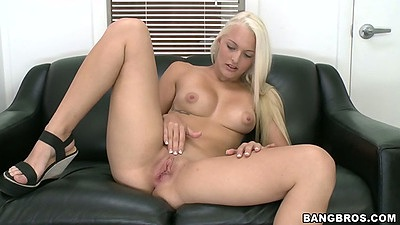 Maci Lee natural tits spread legs solo masturbation