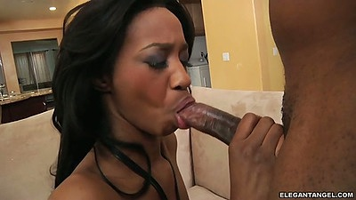 Blowjob with ebony Jada Nacole and sideways anal