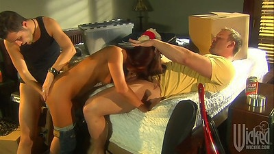 Group sex with Kirsten Price getting nailed