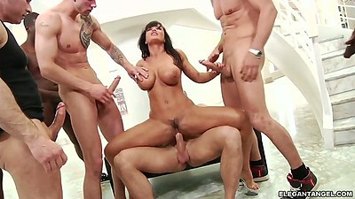 Gang bang milf fuck for Lisa Ann