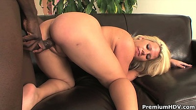Heather Huntley bending over for rear entry doggy interracial fuck