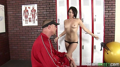 College coach fucks Katie Michaels
