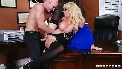 Big tits milf Courtney Taylor office sex on the desk