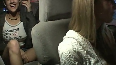 Lesbian Sammie & Gwen chat in the car then hit the bedroom