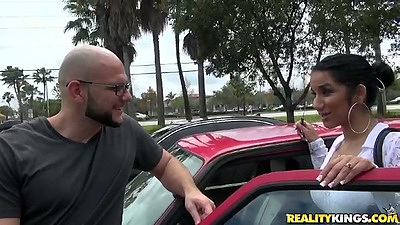 Sexy latina Sophia outdoor public pickup and lets go views:4878