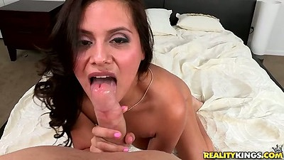 Pov latina blowjob with Selma Sins and ass spreading doggy style views:3584