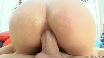 Anal cowgirl with creampie ass dripping fuck Kristen Jordan