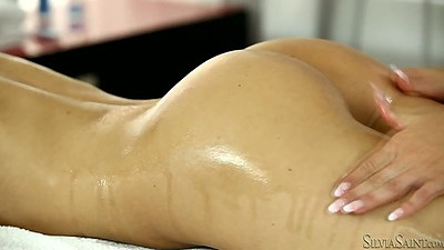 Nice oil massage with lesbian girls Suzie Karina and Blanche Bradbury