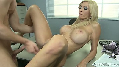 Table office sex from milf Evita Pozzi
