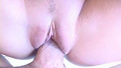 Close up view in pov of shaved pussy young beaver getting entered