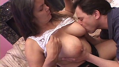 Licking nice big mature tits and hair pussy up her dress fuck views:844
