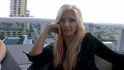 Miss Brittany Andrews and Jaylyn Rose awesome experienced milfs doing lesbian stripping