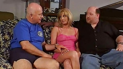 Mimi milf  undressed slowly by group of men