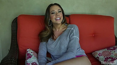 Stripping naked Chanel Preston shows great firm juggs views:1409