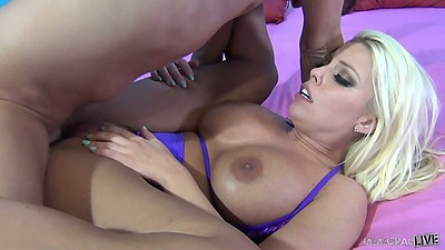 Big tits drilling whore Britney Amber and Andy San Dimas in 2 on 1 views:3256