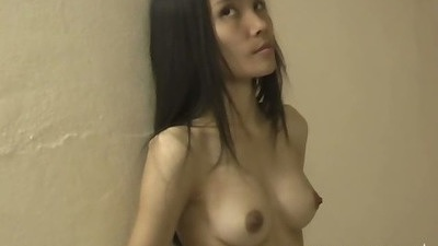Cute tiny asian amateur looks a bit shy