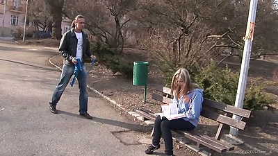 Picking up young college sweetheart with Abigaile Johnson outdoors views:6470