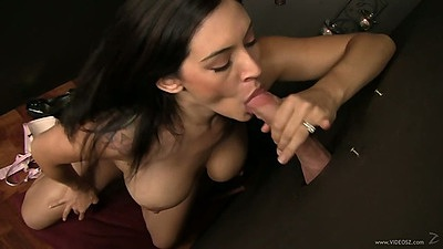 Blowjob with latina in glory hole fun with Raylene views:449