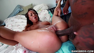 Squirting black girl Teanna Trump keeps on getting cock in deeper views:691