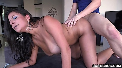 Colombian latina goddess Juliana doggystyle on her knees fuck views:849