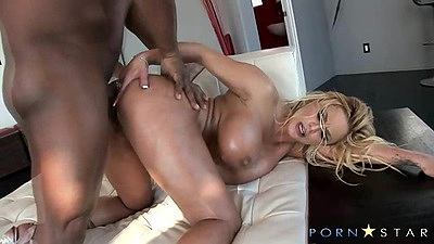 Interracial fucking with black cock and white milf from behind and oil on tits Shyla Styles views:638