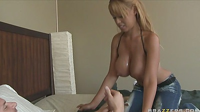 Big tits Bridgette B fully naked and gets eaten out