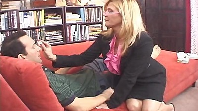 Milf in business suit Ginger Lynn with mom views:625