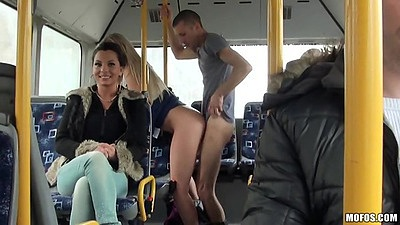 Standing fuck on a public bus while making the rounds Lindsey Olsen views:1693
