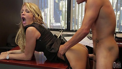 Standing fuck with stunning milf jessica drake over table views:1316