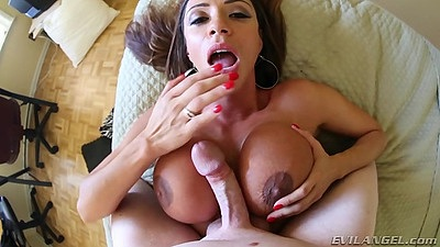 Titty fuck and a blowjob with good looking latina milf Ariella Ferrera views:650