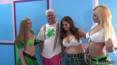Fully clothed girls Allison Moore and Bibi Noel and Tiffany Kohl in sexy outfits views:486