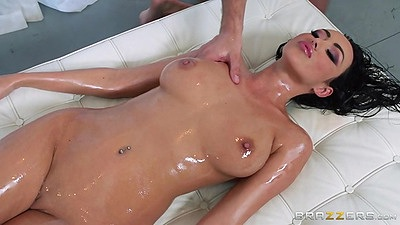Big tits oil massage and fingering Breanne Benson views:923