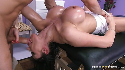 Reverse blowjob with dirty massage milf in oil Eva Karera views:940