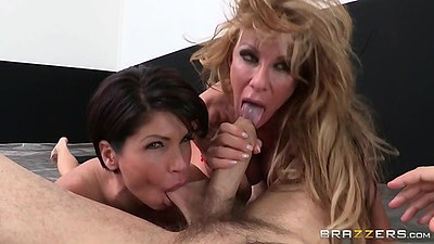 Saucy pov ball sucking sporty threesome with Farrah Dahl and Shay Fox views:409