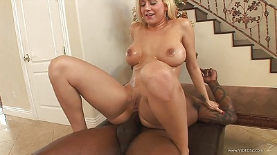 Reverse cowgirl interracial milf anal stretching with Mariah Madysinn views:561
