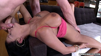Reverser blowjob with busty brunette Peta Jensen views:525