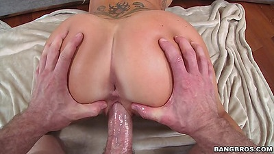 Ass spreading for rear entry doggy pump on Destiny Dixon views:691